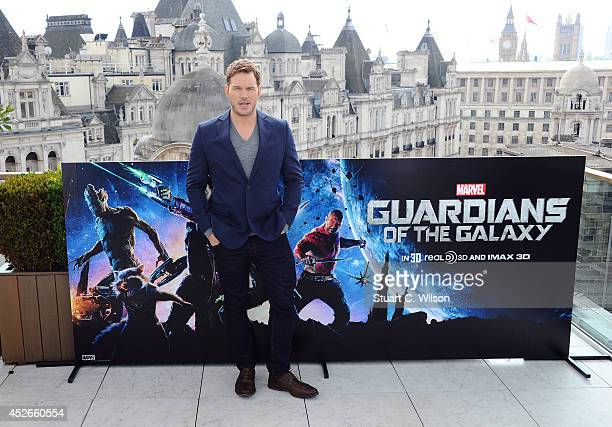 Chris Pratt attends the 'Guardians of the Galaxy' photocall on July 25 2014 in London England