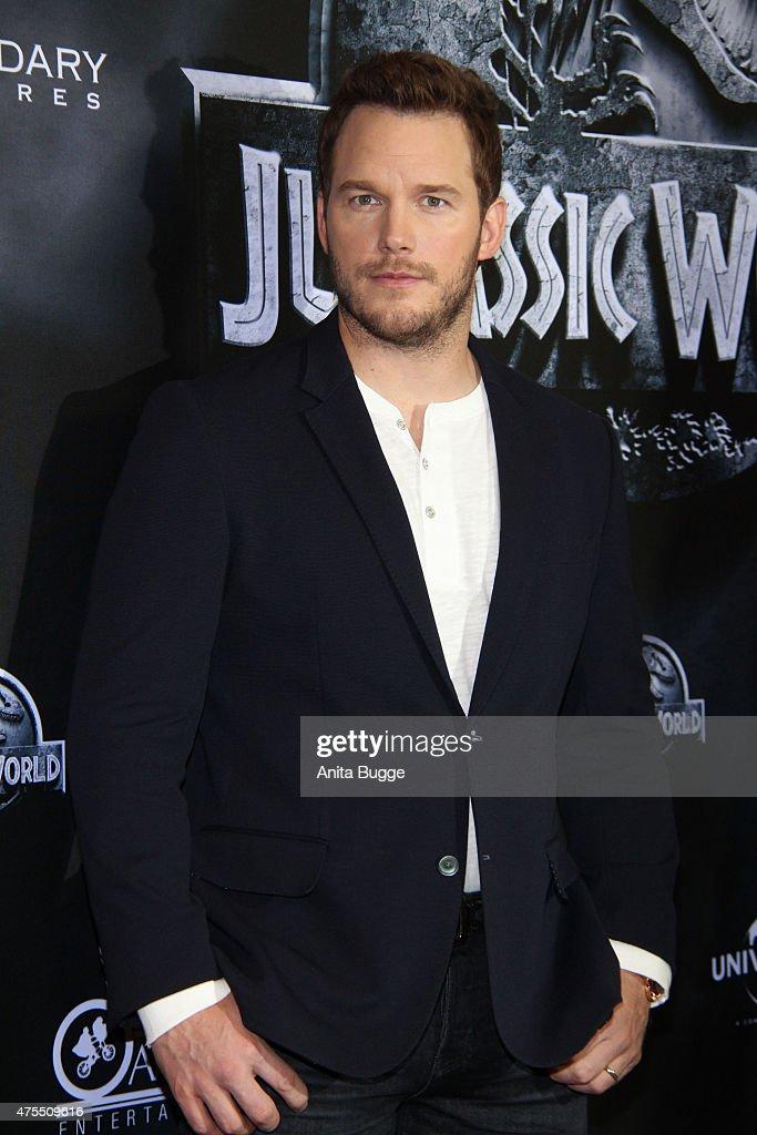 Chris Pratt attends the 'Jurassic World' Berlin photocall at The Regent Hotel on June 1 2015 in Berlin Germany