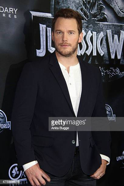 Chris Pratt attends the 'Jurassic World' Berlin photocall at The Regent Hotel on June 1 2015 in Berlin Germany