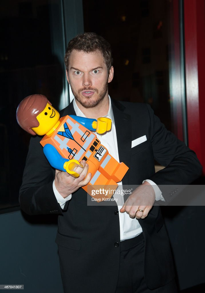 <a gi-track='captionPersonalityLinkClicked' href=/galleries/search?phrase=Chris+Pratt+-+Actor&family=editorial&specificpeople=239084 ng-click='$event.stopPropagation()'>Chris Pratt</a> attends 'The LEGO Movie' screening hosted by Warner Bros. Pictures and Village Roadshow Pictures at AMC Empire 25 theater on February 5, 2014 in New York City.