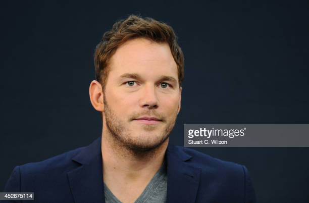 Chris Pratt attends the Meet the FilmMakers event for 'Guardians of the Galacy' on July 25 2014 in London England