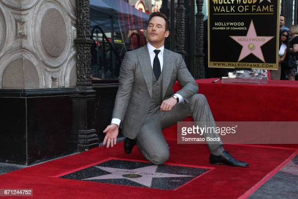 Chris Pratt Honored With Star On The Hollywood Walk Of Fame on April 21 2017 in Hollywood California