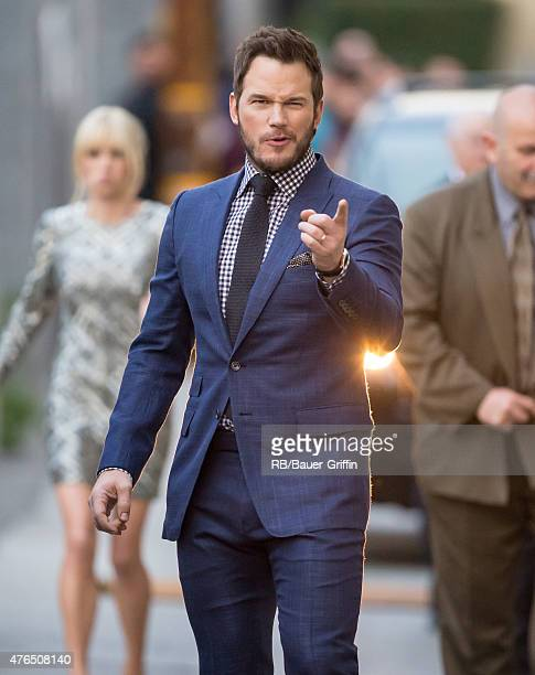 Chris Pratt is seen at 'Jimmy Kimmel Live' on June 09 2015 in Los Angeles California