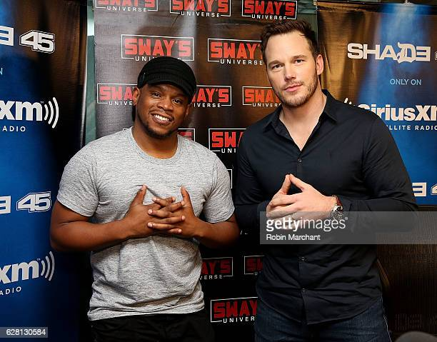 Chris Pratt visits 'Sway in the Morning' on Eminem's Shade 45 with host Sway Calloway at SiriusXM at SiriusXM Studio on December 6 2016 in New York...