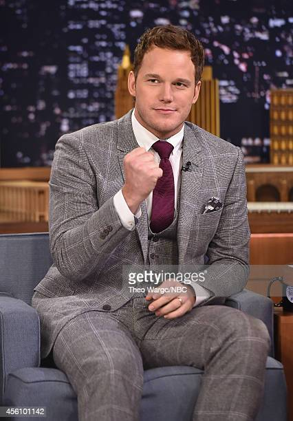 Chris Pratt Visits 'The Tonight Show Starring Jimmy Fallon'nter caption here at Rockefeller Center on September 25 2014 in New York City