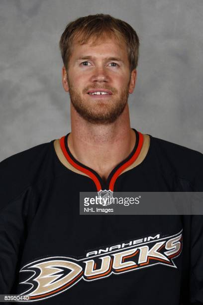 Chris Pronger of the Anaheim Ducks poses for his official headshot for the 20082009 NHL season