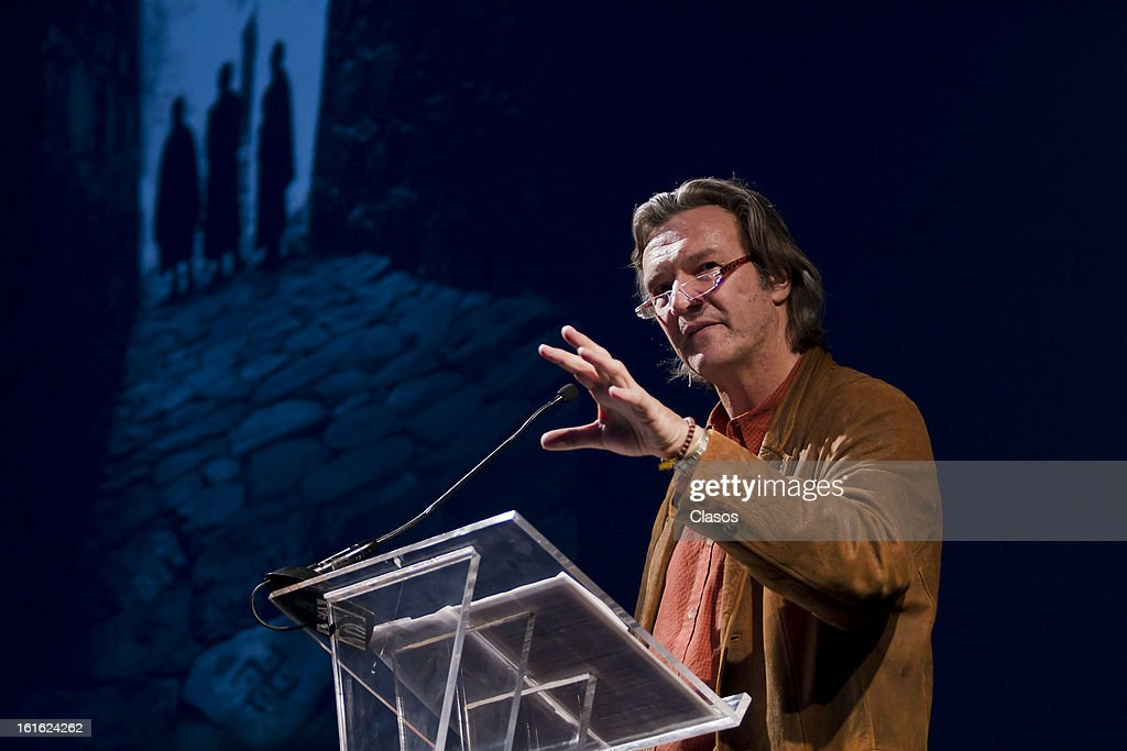 Chris Rainier talks during the launch of the new National Geographic Society division on February 12, 2013 in Mexico City, Mexico.
