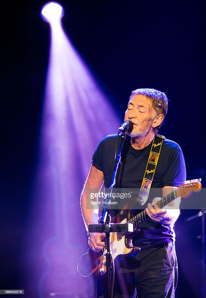 <a gi-track='captionPersonalityLinkClicked' href=/galleries/search?phrase=Chris+Rea&family=editorial&specificpeople=670061 ng-click='$event.stopPropagation()'>Chris Rea</a> performs live on stage during day 3 of Bluesfest 2013 at The Royal Albert Hall on October 31, 2013 in London, England.