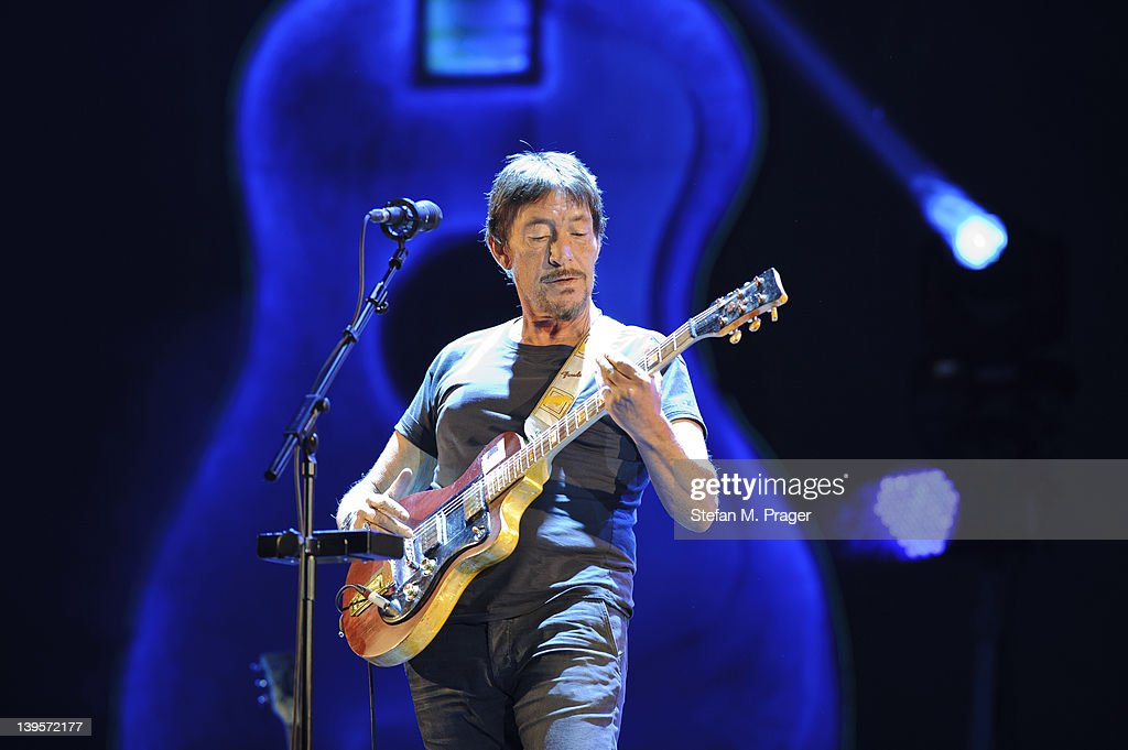 Chris Rea performs on stage at Olympiahalle on February 22, 2012 in Munich, Germany.