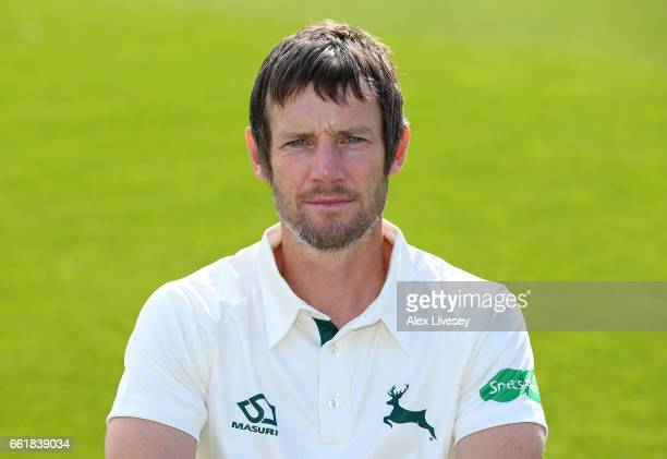 Chris Read of Nottinghamshire CCC poses for a portrait during the Nottinghamshire CCC Photocall at Trent Bridge on March 31 2017 in Nottingham England
