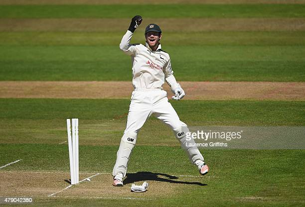 Chris Read of Nottinghamshire in action during day two of the LV County Championship match between Nottinghamshire and Worcestershire at Trent Bridge...