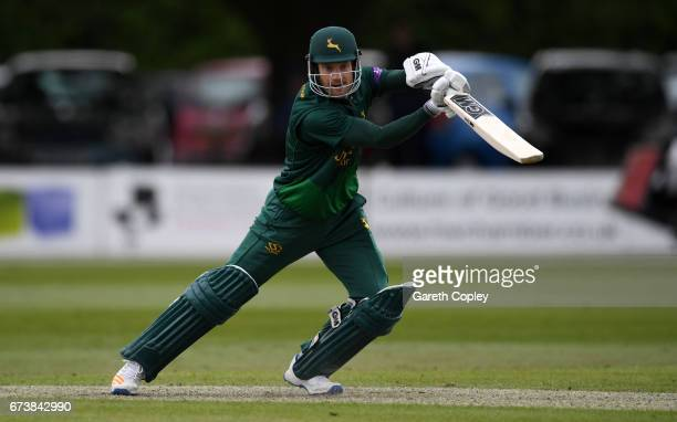 Chris Read of Worcestershire bats during the Royal London OneDay Cup match between Worcestershire and Nottinghamshire at New Road on April 27 2017 in...