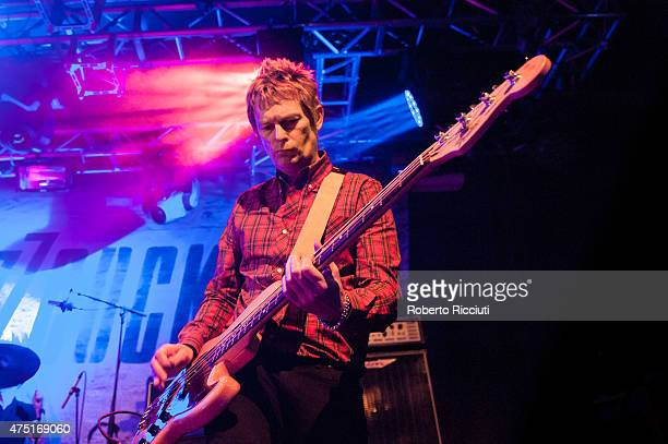 Chris Remington of Buzzcocks performs on stage at The Liquid Room on May 29 2015 in Edinburgh United Kingdom