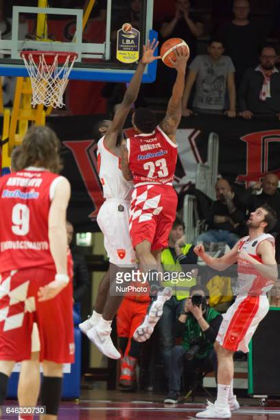 23 Chris Roberts in action during the Italy Lega Basket of Serie A match between Openjobmetis Varese Pistoia Basket Italy on 27 February 2017 in...