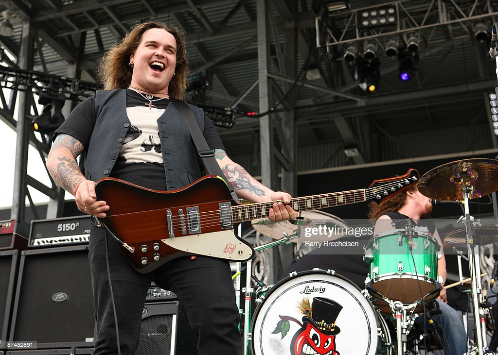 Chris Robertson and John Fred Young of Black Stone Cherry perform during the 2009 Rock On The Range festival at Columbus Crew Stadium on May 16, 2009 in Columbus, Ohio.