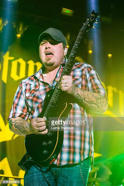 Chris Robertson of Black Stone Cherry performs at SSE Arena Wembley on February 4 2016 in London England