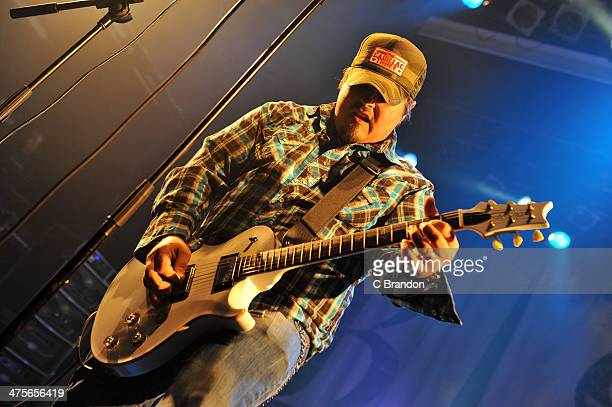 Chris Robertson of Black Stone Cherry performs on stage at KOKO on February 28 2014 in London United Kingdom