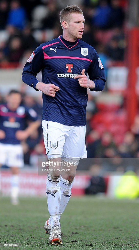 Chris Robertson of Preston attacks during the npower League One match between Brentford and Preston North End at Griffin Park on March 16, 2013 in London, England,