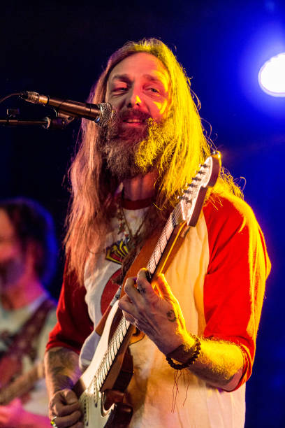 MADRID, SPAIN - MARCH 05: Chris Robinson and Brotherhood performs on stage on March...
