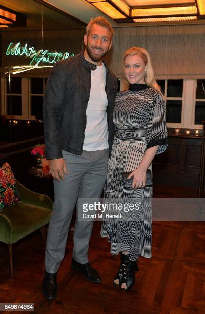 Chris Robshaw and Camilla Kerslake attend launch of 34 Mayfair's collaboration with Liberty London on September 19 2017 in London England