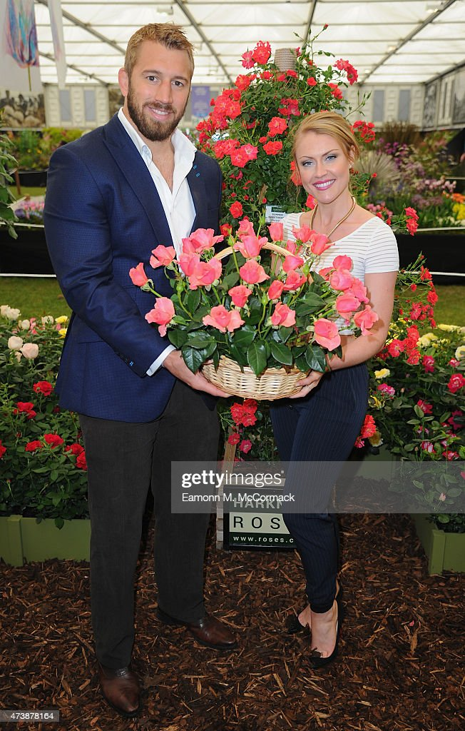 Chris Robshaw and Camilla Kerslake attend the Chelsea Flower Show at Royal Hospital Chelsea on May 18 2015 in London England