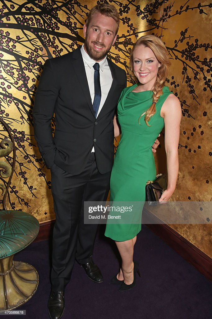 Chris Robshaw and Camilla Kerslake attend the DSQUARED2 dinner in celebration of their new London Flagship opening at Loulou's on April 21 2015 in...