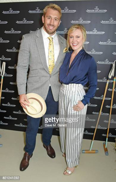 Chris Robshaw and Camilla Kerslake attend the JaegerLeCoultre Gold Cup Polo Final at Cowdray Park on July 23 2017 in Midhurst England