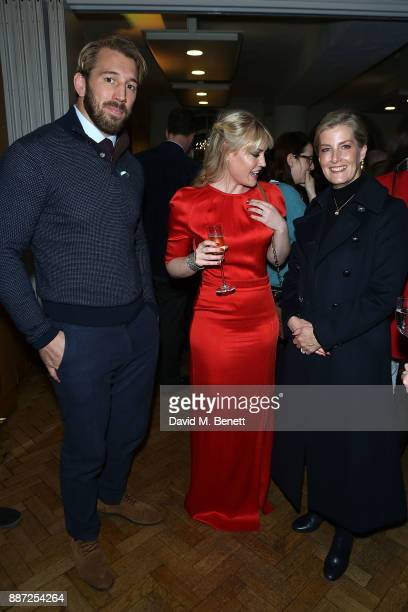 Chris Robshaw Camila Kerslake and the Countess of Wessex attend Childline's Merry Little Christmas 2017 at St Columba's Church on December 6 2017 in...