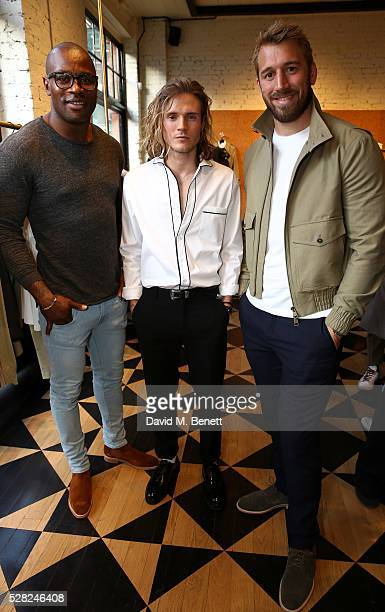 Chris Robshaw Dougie Poynter and Ugo Monye attends Ami Mayfair Store Opening on May 4 2016 in London England