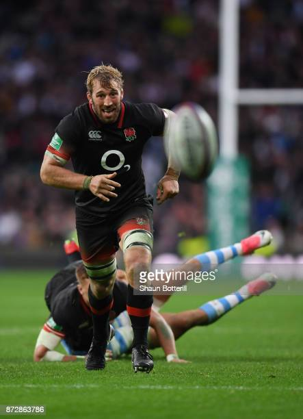 Chris Robshaw of England in action during the Old Mutual Wealth Series match between England and Argentina at Twickenham Stadium on November 11 2017...
