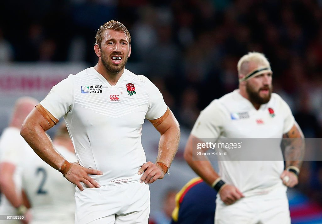<a gi-track='captionPersonalityLinkClicked' href=/galleries/search?phrase=Chris+Robshaw&family=editorial&specificpeople=2375303 ng-click='$event.stopPropagation()'>Chris Robshaw</a> of England looks on during the 2015 Rugby World Cup Pool A match between England and Wales at Twickenham Stadium on September 26, 2015 in London, United Kingdom.