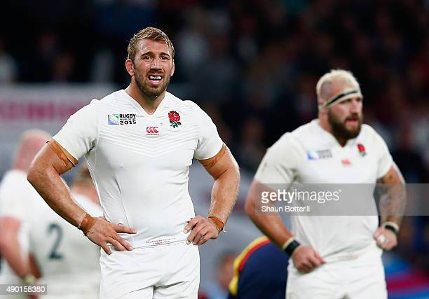 Chris Robshaw of England looks on during the 2015 Rugby World Cup Pool A match between England and Wales at Twickenham Stadium on September 26 2015...