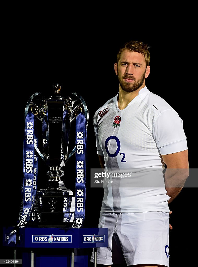 <a gi-track='captionPersonalityLinkClicked' href=/galleries/search?phrase=Chris+Robshaw&family=editorial&specificpeople=2375303 ng-click='$event.stopPropagation()'>Chris Robshaw</a> of England poses with the trophy during the launch of the 2015 RBS Six Nations at the Hurlingham club on January 28, 2015 in London, England.