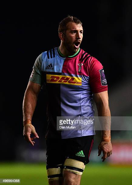 Chris Robshaw of Harlequins looks on during the European Rugby Challenge Cup Pool 3 match between Harlequins and Montpellier at Twickenham Stoop on...