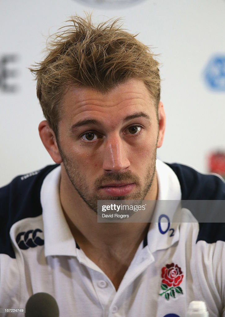 <a gi-track='captionPersonalityLinkClicked' href=/galleries/search?phrase=Chris+Robshaw&family=editorial&specificpeople=2375303 ng-click='$event.stopPropagation()'>Chris Robshaw</a>, the England captain faces the media at a conference held after the England captain's run at Twickenham Stadium on November 30, 2012 in London, England.