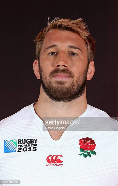 Chris Robshaw the England captain poses during the England Rugby World Cup kit launch at Twickenham Stadium on July 6 2015 in Twickenham England