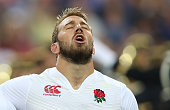 Chris Robshaw the England captain sings the anthem during the International match between France and England at Stade de France on August 22 2015 in...