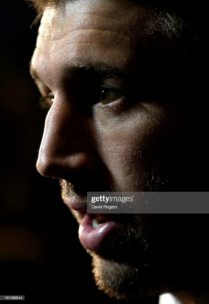 <a gi-track='captionPersonalityLinkClicked' href=/galleries/search?phrase=Chris+Robshaw&family=editorial&specificpeople=2375303 ng-click='$event.stopPropagation()'>Chris Robshaw</a> the England captain speaks to the media during the media session following IRB Rugby World Cup 2015 pool allocation draw at the Blue Fin Building on December 3, 2012 in London, England.