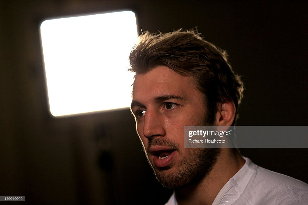 <a gi-track='captionPersonalityLinkClicked' href=/galleries/search?phrase=Chris+Robshaw&family=editorial&specificpeople=2375303 ng-click='$event.stopPropagation()'>Chris Robshaw</a> the England captain speaks with the media during the RBS Six Nations launch at The Hurlingham Club on January 23, 2013 in London, England.