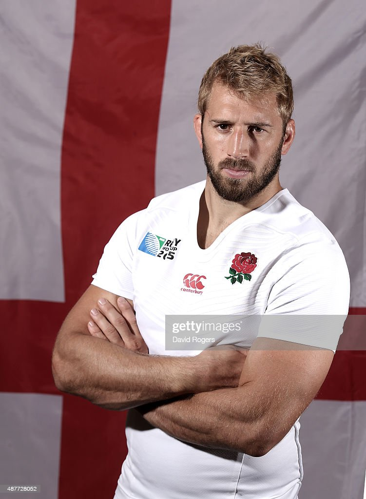 Chris Robshaw the England rugby captain poses at Pennyhill Park on August 26 2015 in Bagshot England