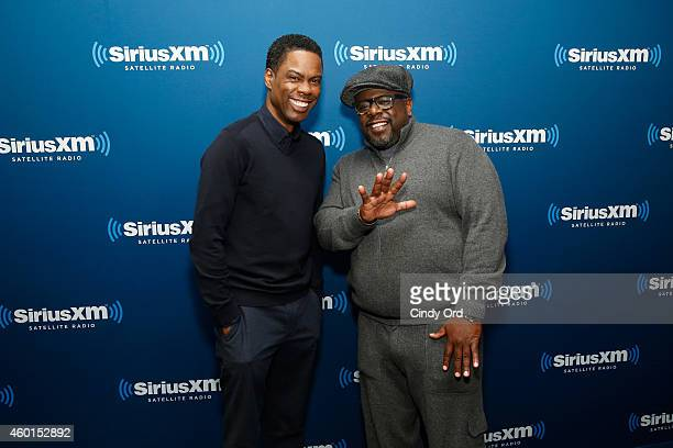 Chris Rock and Cedric the Entertainer attend SiriusXM's 'Town Hall' on SiriusXM's Raw Dog Comedy Hits channel on December 8 2014 in New York City