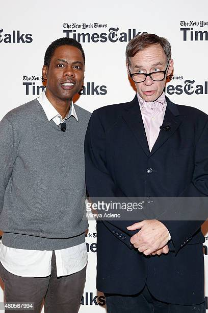 Chris Rock and David Carr attend TimesTalks Presents A Conversation With Chris Rock at TheTimesCenter on December 16 2014 in New York City