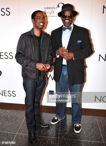 Chris Rock and Fab 5 Freddy attend NOWNESS Presents the New York Premiere of JeanMichel Basquiat The Radiant Child at MoMa on April 27 2010 in New...