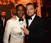 Chris Rock and Leonardo DiCaprio attend the 2016 Vanity Fair Oscar Party Hosted By Graydon Carter at the Wallis Annenberg Center for the Performing...