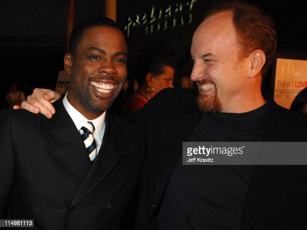 Chris Rock and Louis CK during 'I Think I Love My Wife' Los Angeles Premiere Red Carpet at ArcLight Cinemas in Hollywood California United States