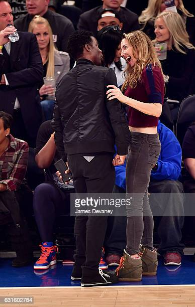 Chris Rock and Whitney Cummings attend Chicago Bulls Vs New York Knicks game at Madison Square Garden on January 12 2017 in New York City