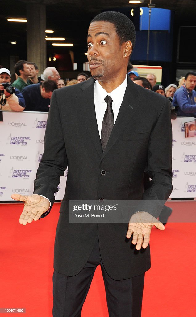 Chris Rock arrives at the National Movie Awards at the Royal Festival Hall on May 26 2010 in London England