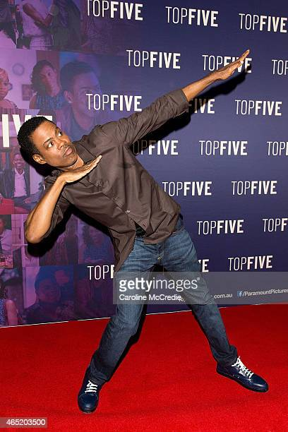 Chris Rock arrives at the 'Top Five' special screening on March 4 2015 in Sydney Australia