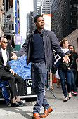Chris Rock arrives for the final episode of 'The Late Show with David Letterman' at the Ed Sullivan Theater on May 20 2015 in New York City