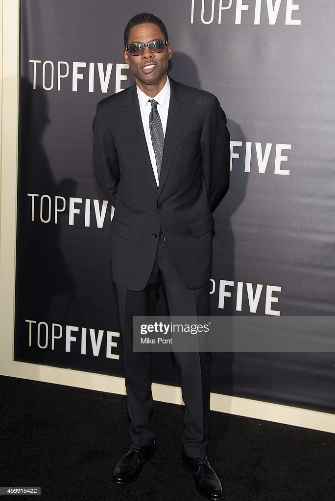 <a gi-track='captionPersonalityLinkClicked' href=/galleries/search?phrase=Chris+Rock&family=editorial&specificpeople=202982 ng-click='$event.stopPropagation()'>Chris Rock</a> attends the 'Top Five' New York Premiere at Ziegfeld Theater on December 3, 2014 in New York City.